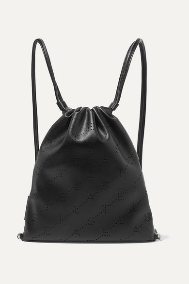 Stella Mccartney Backpacks Perforated faux leather backpack