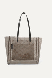 Stella McCartney Faux leather-trimmed perforated PU tote
