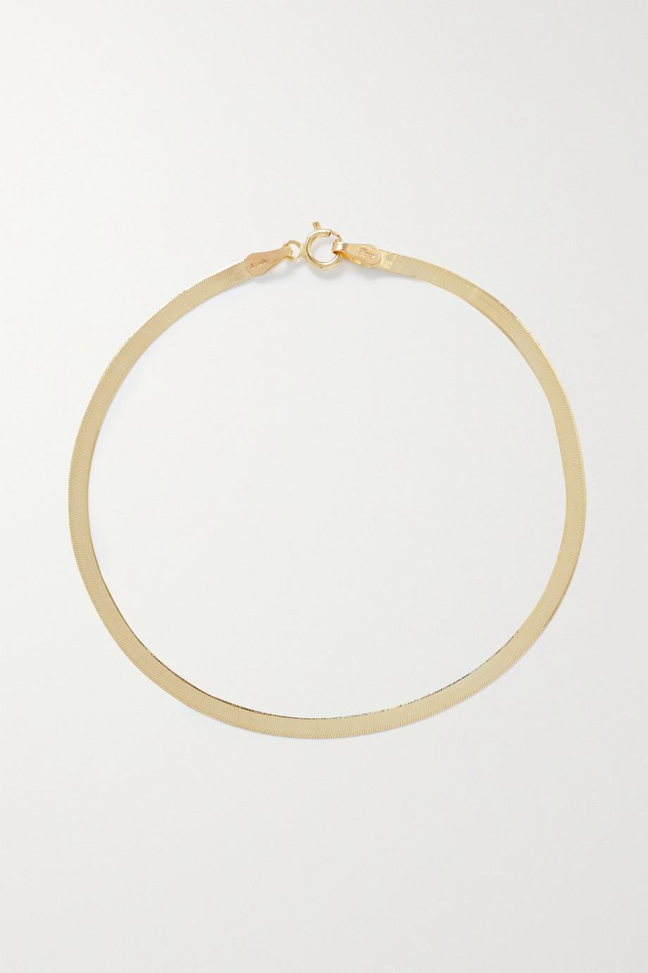 Loren Stewart Herringbone Armband aus 10 Karat Gold