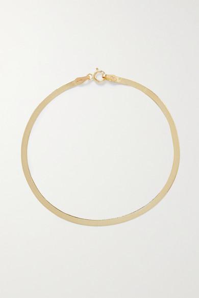 LOREN STEWART Herringbone 10-Karat Gold Bracelet