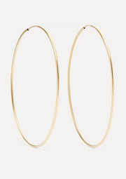 Infinity gold hoop earrings
