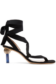 Jacquemus Capri suede and canvas sandals