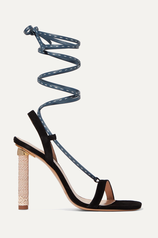 Jacquemus Bergamo suede and leather sandals