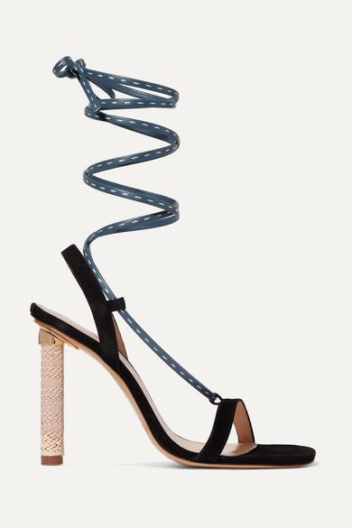 Jacquemus - Bergamo suede and leather sandals