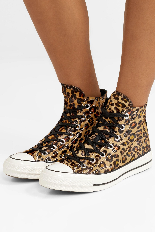 leopard skin converse