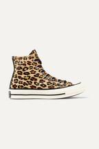 c24bb66e952c Converse Chuck Taylor All Star 70 leopard-print faux calf hair high-top  sneakers