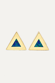 Jennifer Meyer 14-karat gold opal earrings