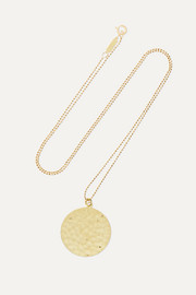 Hammered 18-karat gold necklace