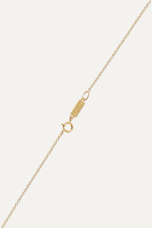 Jennifer Meyer Heart 18-karat gold, opal and diamond necklace