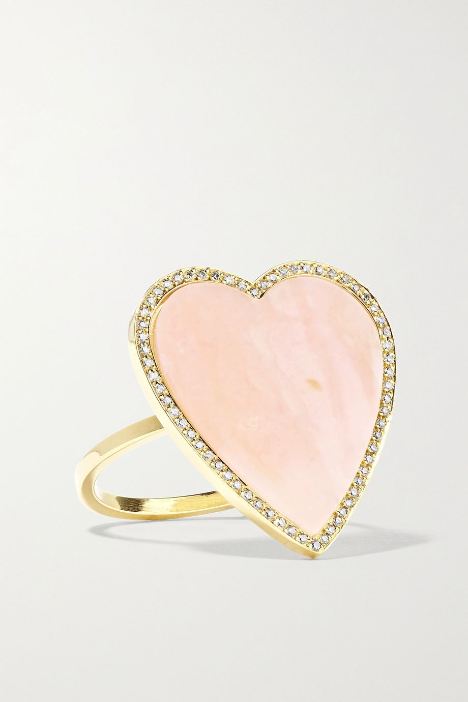 Jennifer Meyer Heart 18-karat gold, opal and diamond ring