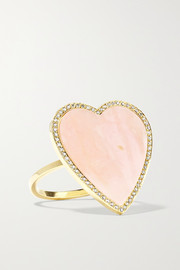 Jennifer Meyer Heart 18-karat gold, opal and diamond ring