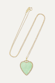 Jennifer Meyer Heart 18-karat gold, turquoise and diamond necklace