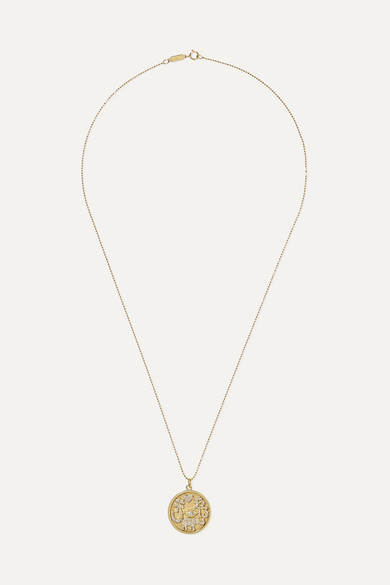 JENNIFER MEYER Good Luck 18-Karat Gold Diamond Necklace