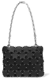 Blossom 1969 laser-cut leather and canvas shoulder bag