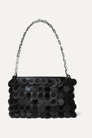 Sparkle 1969 sequined faux leather shoulder bag
