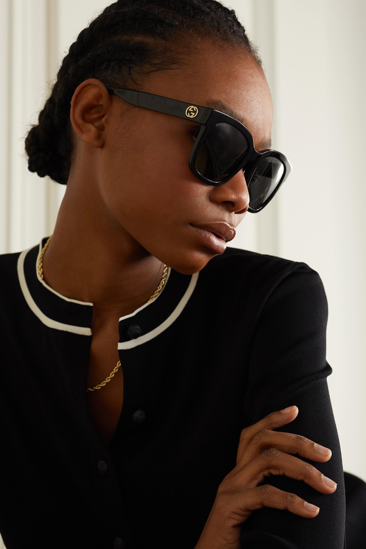 Gucci Lunettes de soleil carrées en acétate