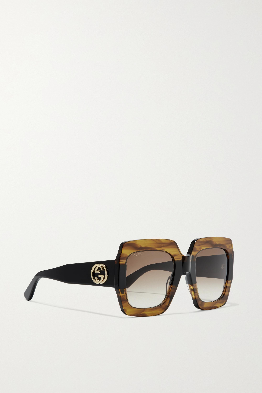 Gucci Oversized square-frame tortoiseshell acetate sunglasses