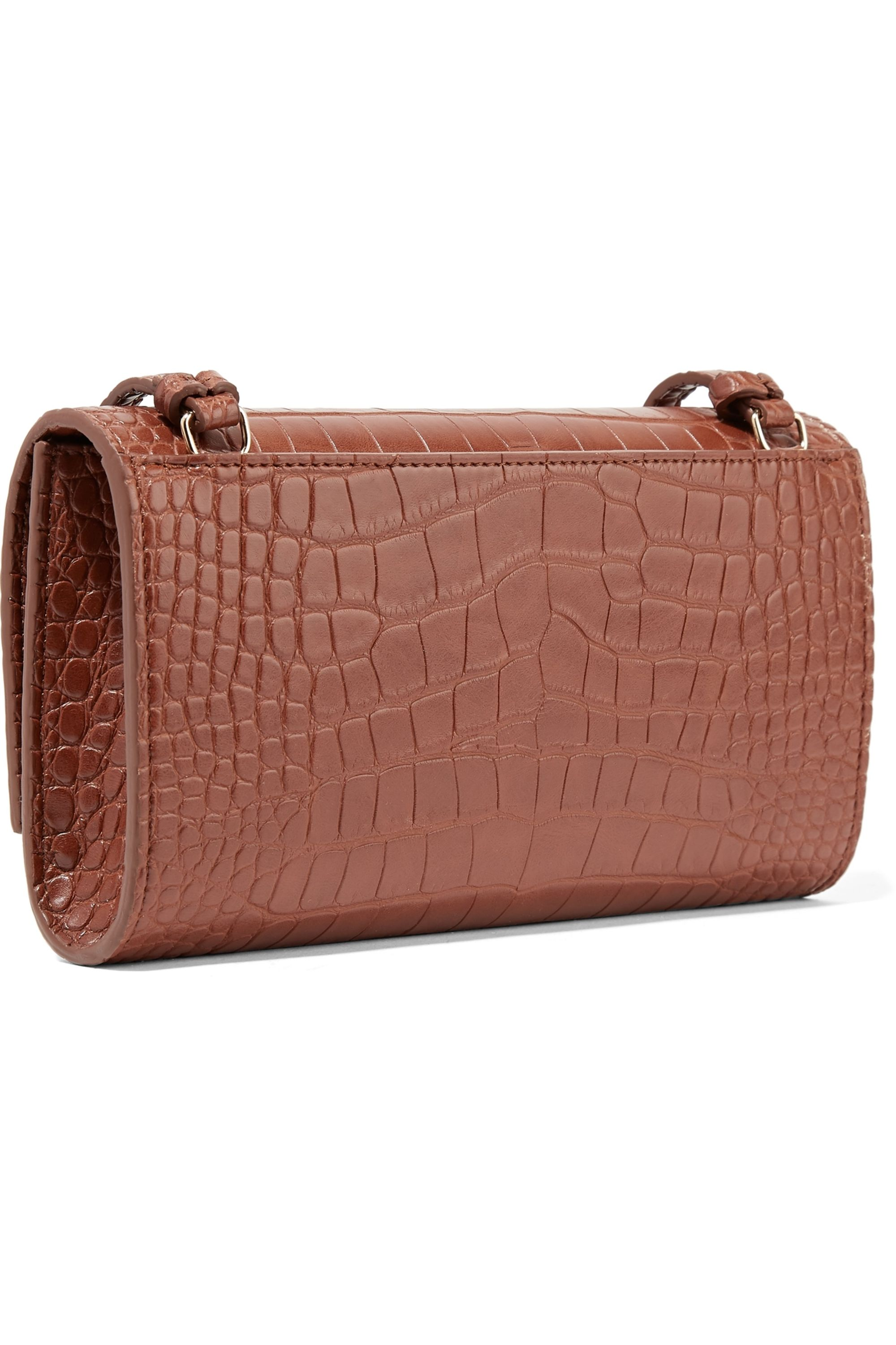 Nanushka Day croc-effect vegan leather shoulder bag