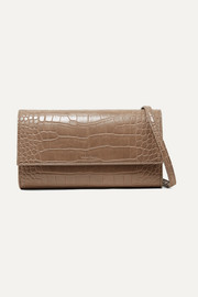 Day croc-effect vegan leather shoulder bag
