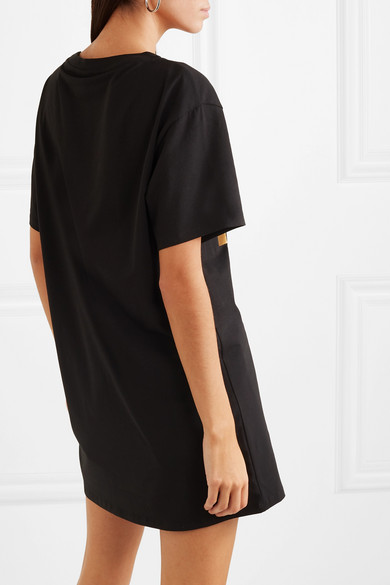 Moschino Beachwear Metallic printed cotton-blend jersey T-shirt
