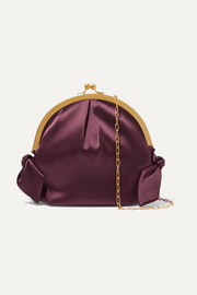 Oana knotted satin shoulder bag