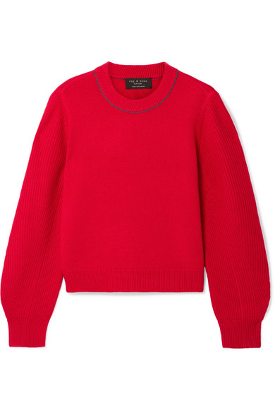 Yorke Cashmere Sweater in Red