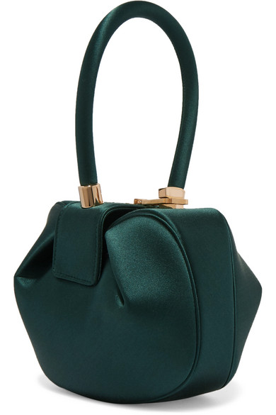 Gabriela Hearst - Demi Satin Tote - Dark green
