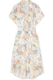Zimmermann Bowie floral-print linen midi dress