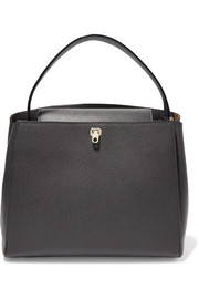 Brera textured-leather tote