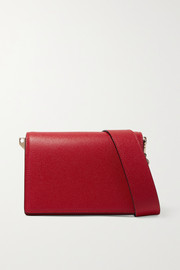 Valextra Swing textured-leather shoulder bag
