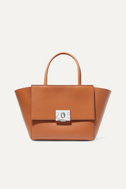 Bonnie medium grosgrain-trimmed leather tote