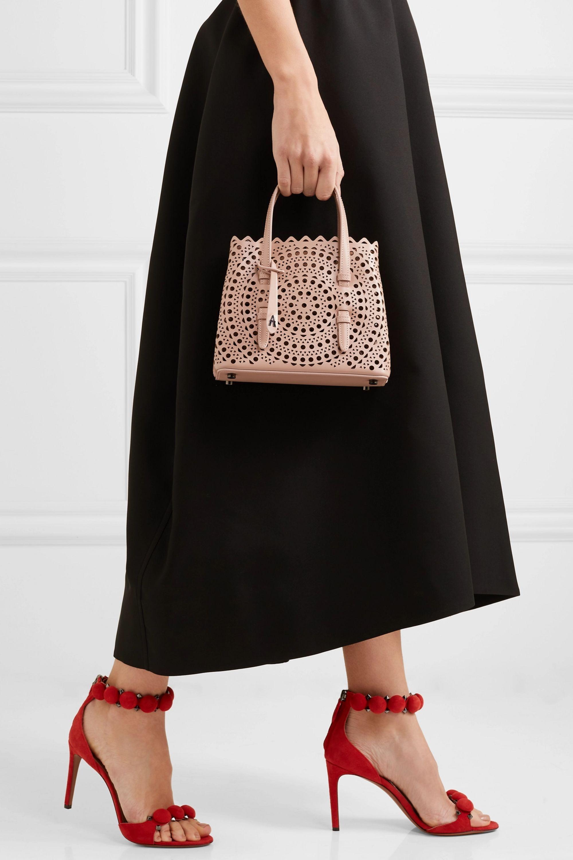 Alaïa Mini laser-cut leather tote