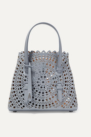 Mini laser-cut leather tote