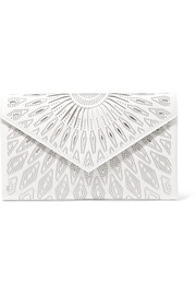 Alaïa Oum studded laser-cut leather clutch