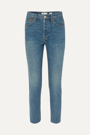 RE/DONE Rigid cropped high-rise slim-leg jeans