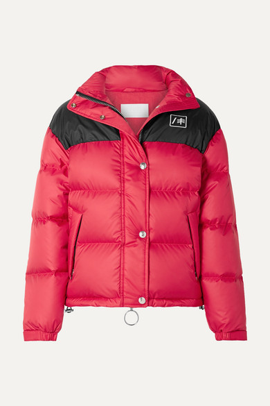 + Ienki Ienki Cropped Quilted Shell Down Jacket in Red