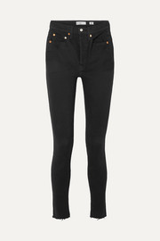 High Rise Ankle Crop Rigid skinny jeans
