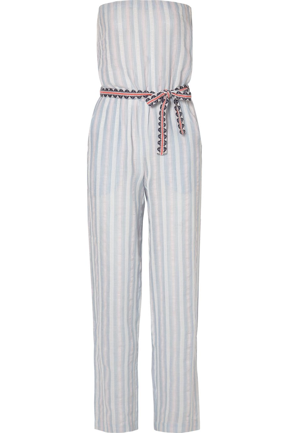 LemLem Nefasi striped cotton-blend gauze jumpsuit