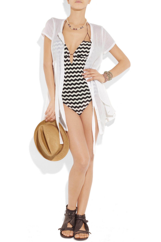 Undrest Ibiza woven zigzag swimsuit
