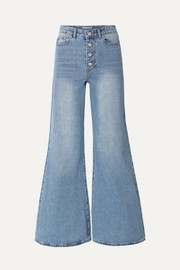Georgia Alice Cropped high-rise flared jeans