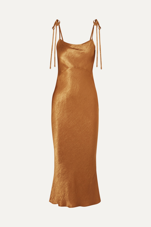 Georgia Alice Crinkled-satin midi dress