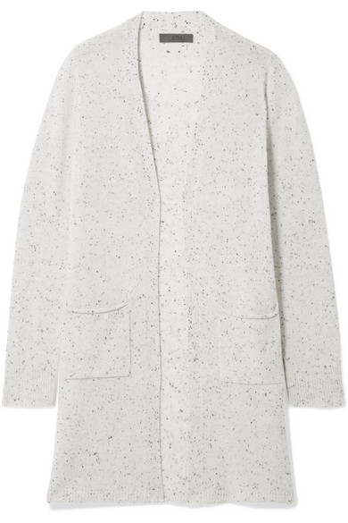 Cashmere Open Cardigan in Light Gray