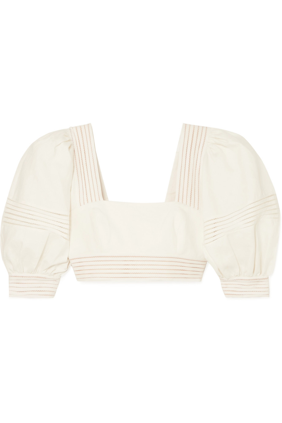 Cream off Shoulder Cropped Blouse