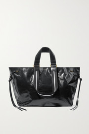 Wardy glossed-leather tote