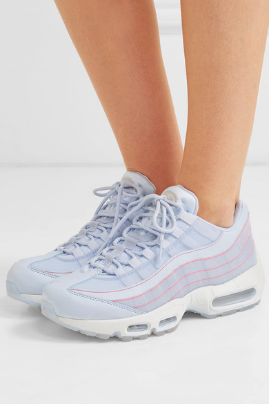 Air Max 95 Leather Sneakers In Grey