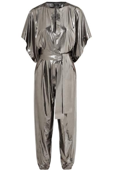 023d7957195 Norma Kamali. Rectangle stretch-lamé jumpsuit