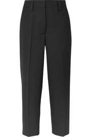 Cropped grain de poudre straight-leg pants