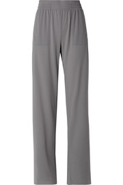 Boyfriend stretch-jersey wide-leg pants