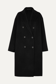 Odethe double-breasted wool and cashmere-blend coat