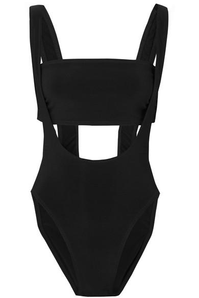 Suspender Marissa Bikini in Black